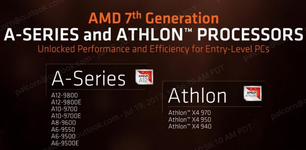 AMD Launches 7th Generation A-Series And Athlon Processors To Retail