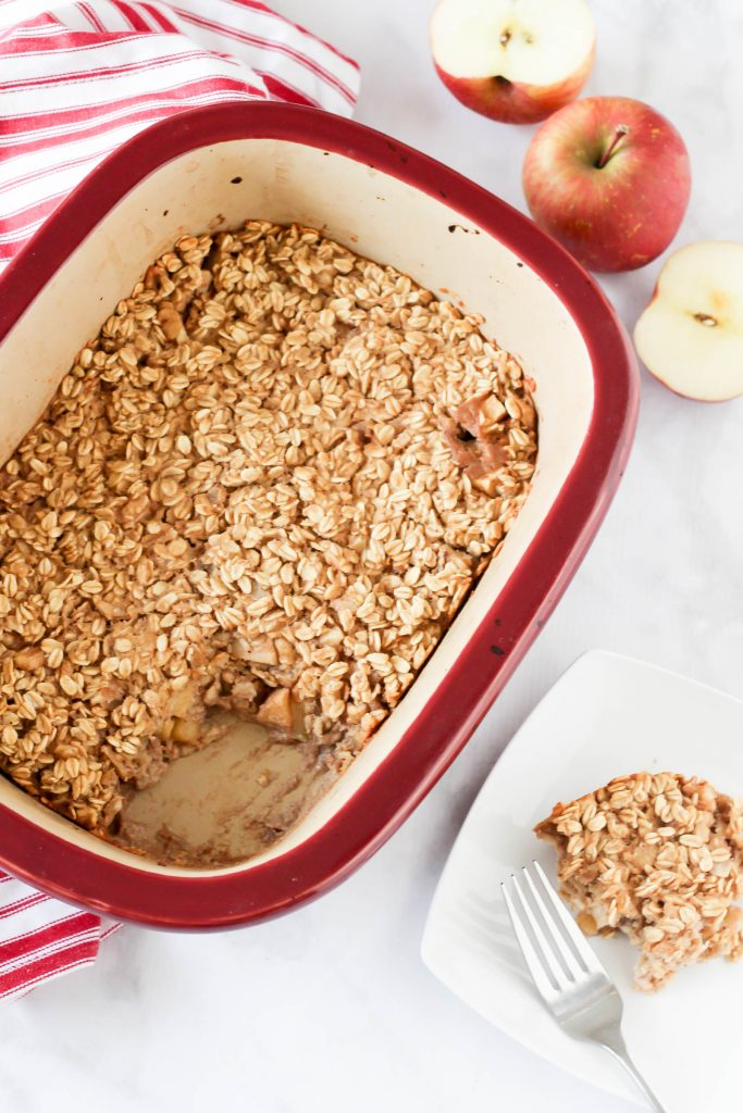 Apple pie walnut baked oatmeal (gluten-free, vegan)