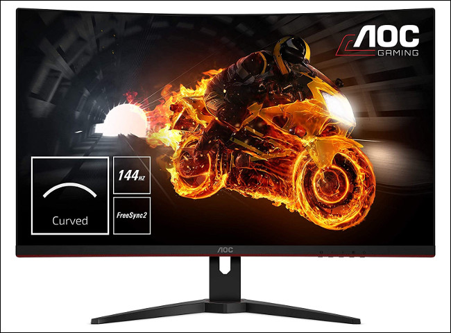 An AOC 144 Hz High-Refresh-Rate Monitor.